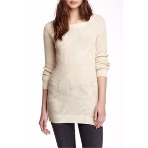 5/$25 Abound Beige Waffle Stitch Tunic Sweater